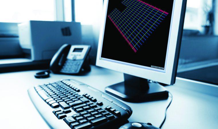 Desktop personal computer in modern office. Taken on event Minilypse - Ljubljana - 2008.